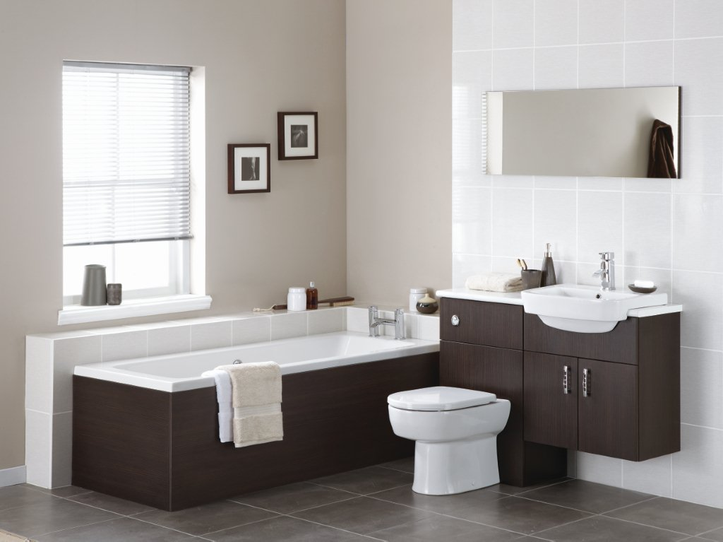 Truffle Brown Bathroom Design
