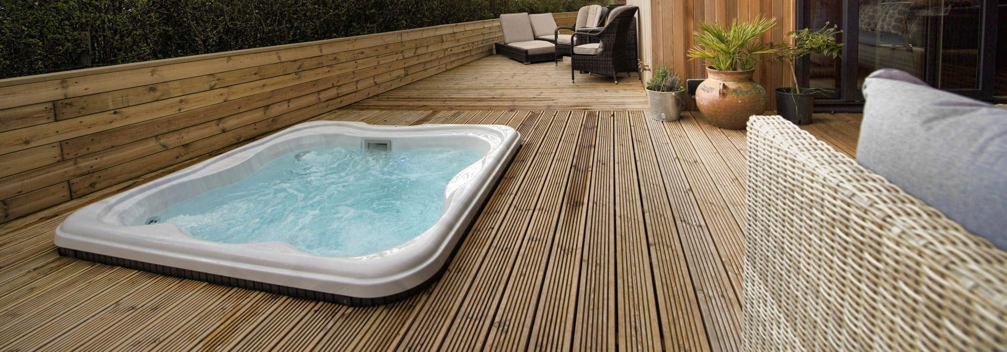Jacuzzi on the decking